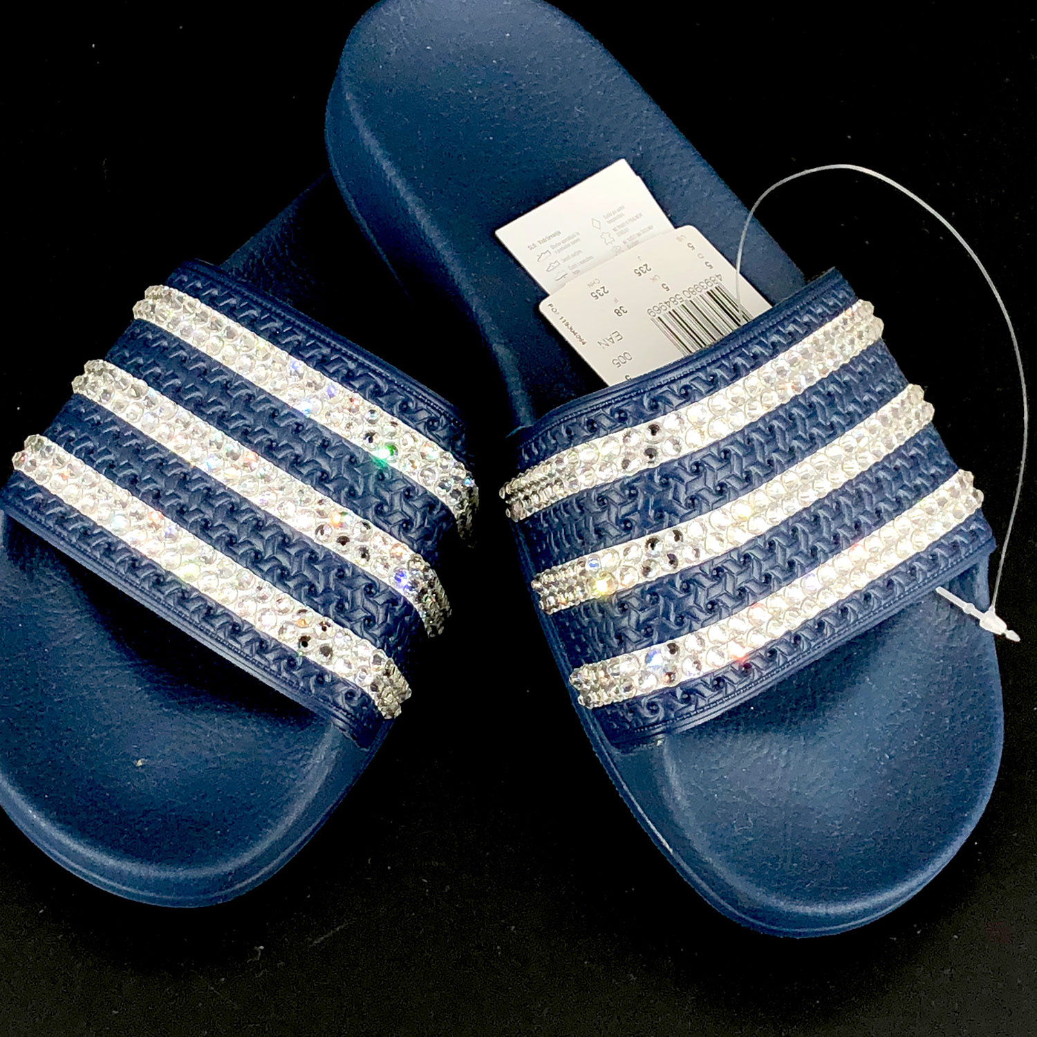 Swarovski crystal Adidas Adilette Slides – Crystalled by Jane efb8c34405